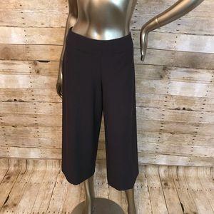 Eileen Fisher Brown Capri Stretch Pants Size M